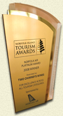 Two Chimneys Norfolk Island Tourism Award